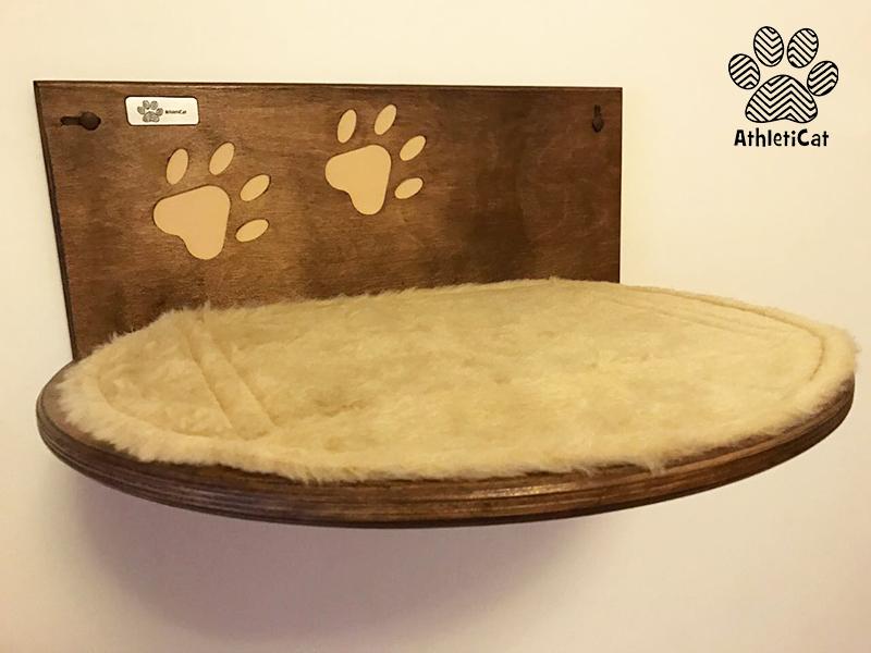 Mensola intagliata per gatti con zampina athleticat for Mensole per gatti ikea
