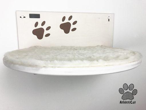 Mensola per gatti con zampine incise
