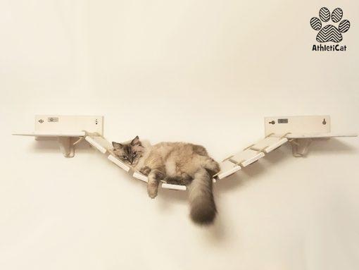 Ponte tibetano per gatti in legno