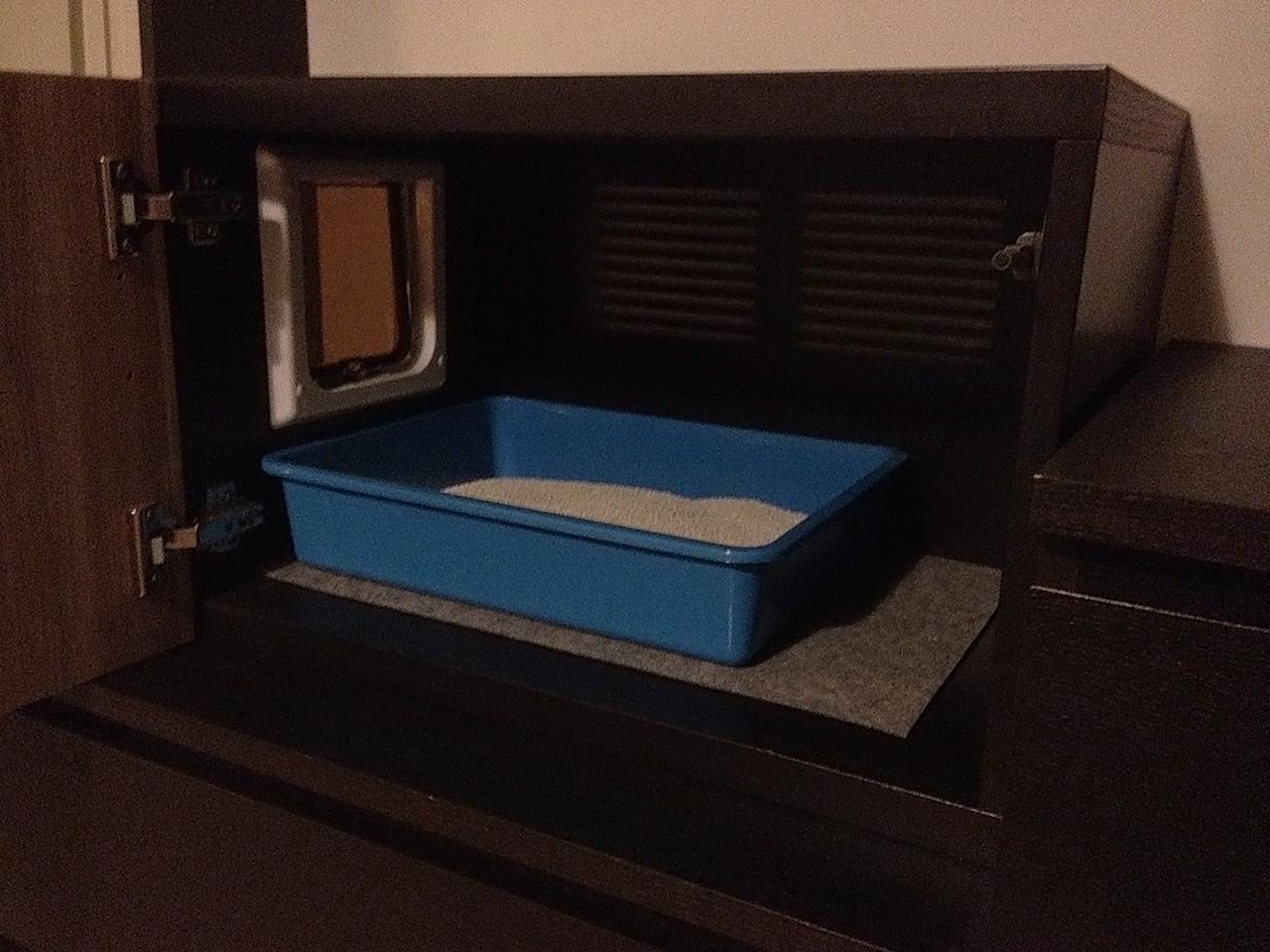 Mobile per nascondere la lettiera del gatto for Mobile nascondi lavatrice ikea