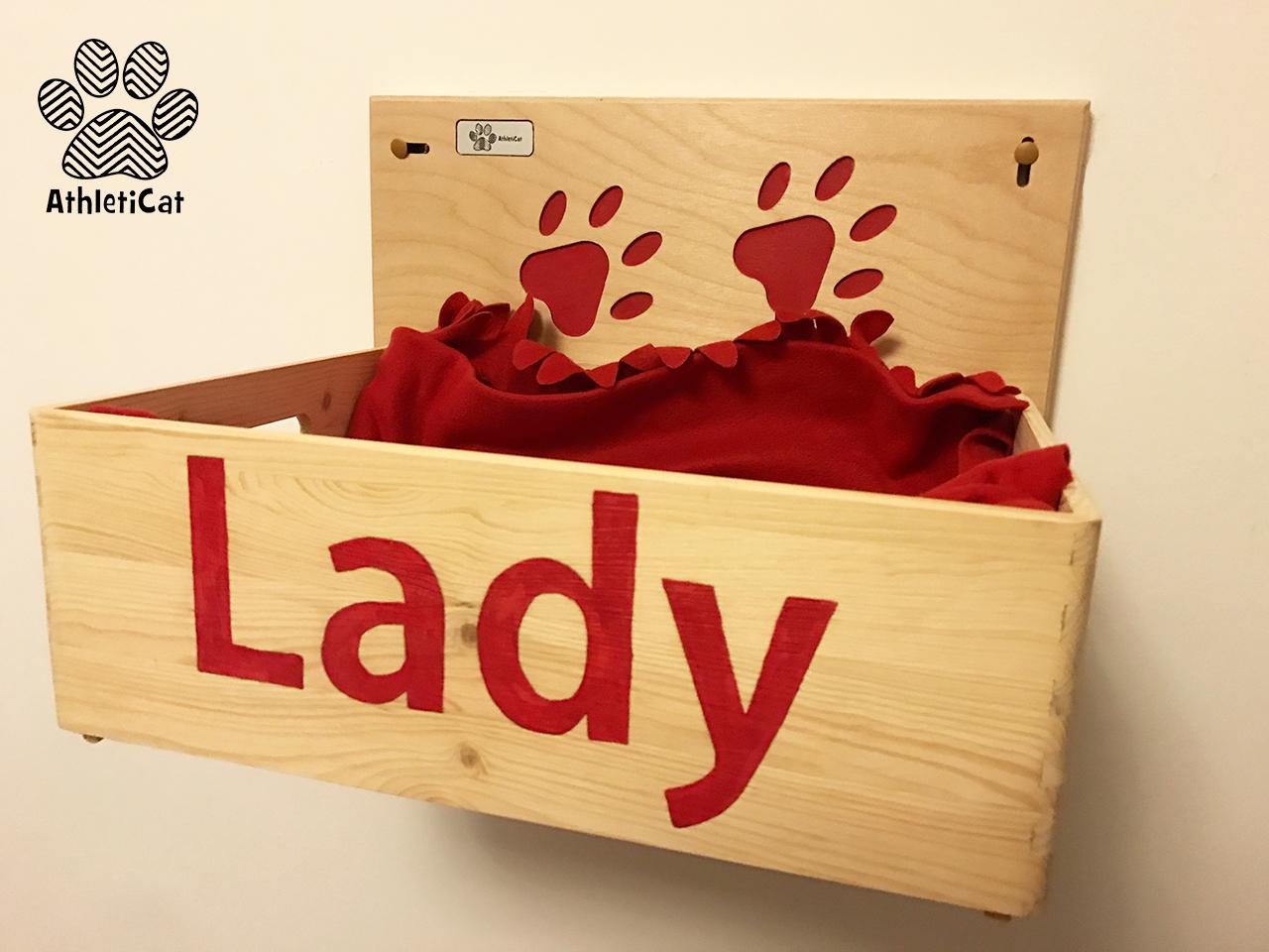 Cuccia per gatti in legno made in italy for Parete attrezzata gatti