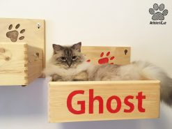 Cuccia per gatti in legno con nome