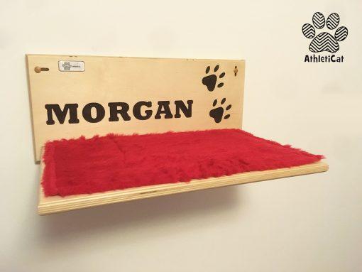 Mensola per gatti in legno con nome Morgan