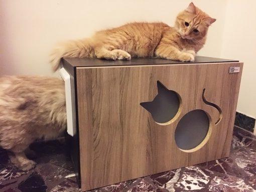 Mobiletto copri lettiera per gatti artigianale